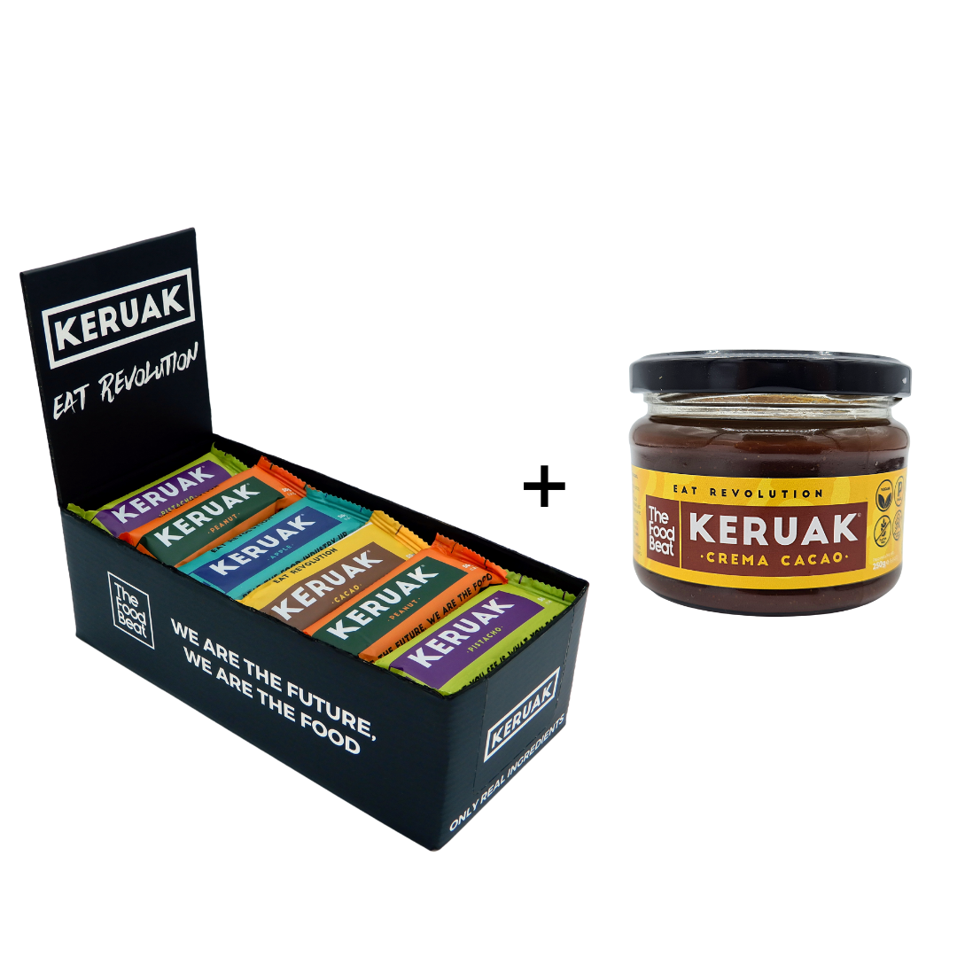 Pack mix protein bars and healthy cocoa spread Keruak butter
